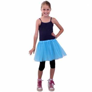 Goedkoop ballet tule rokje blauw meisjes carnavalskleding
