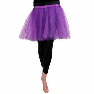 Goedkoop ballet tule rokje paars meisjes carnavalskleding