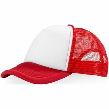 Goedkoop baseballcap rood/wit carnavalskleding