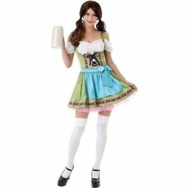 Goedkoop beieren/oktoberfest carnavalskleding groen dames