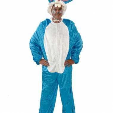 Goedkoop blauw paashaas carnavalskleding volwassenen