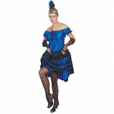 Goedkoop blauwe carnaval salsa jurk carnavalskleding