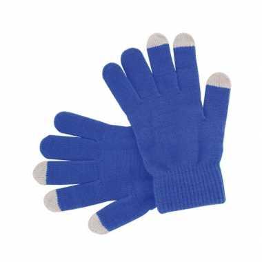 Goedkoop blauwe handschoenen je mobiel carnavalskleding