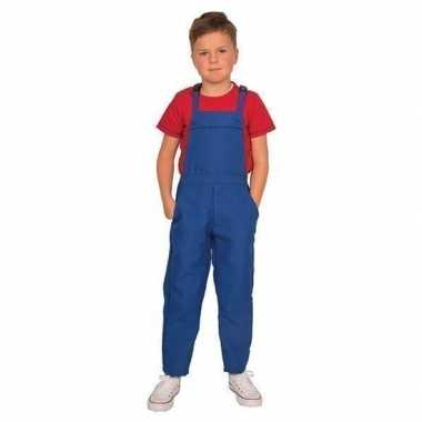Goedkoop blauwe verkleed carnavalskledingl kinderen
