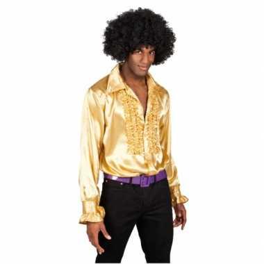 Goedkoop  Blouse goud rouches heren carnavalskleding