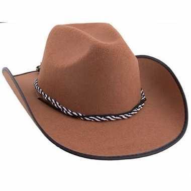Goedkoop bruine western hoed carnavalskleding
