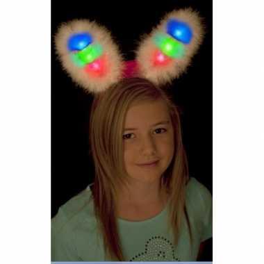 Goedkoop bunny oren lichtgevend carnavalskleding