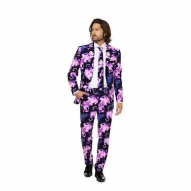 Goedkoop business suit galaxy print carnavalskleding