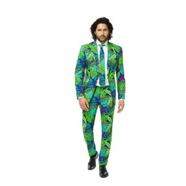 Goedkoop business suit jungle print carnavalskleding