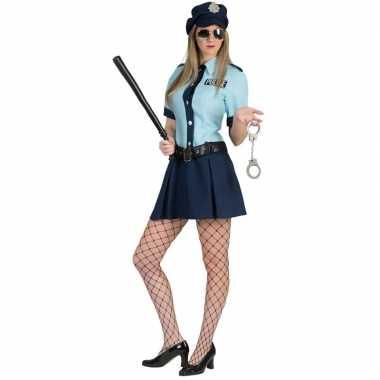 Goedkoop carnaval carnavalskleding politie agente jurkje dames