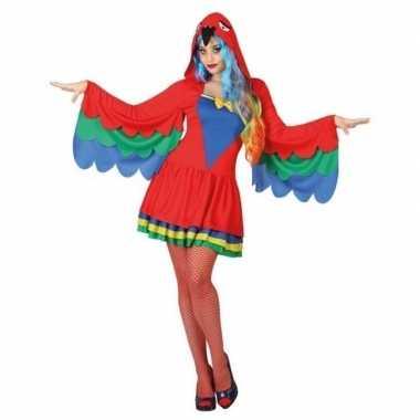 Goedkoop carnaval dieren carnavalskleding papegaai dames