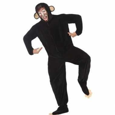 Goedkoop carnaval/feest aap/chimpansee verkleed carnavalskleding volw