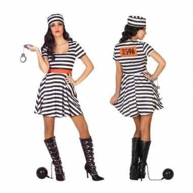 Goedkoop carnaval/feest boeven/gevangenen bonnie verkleedcarnavalskle