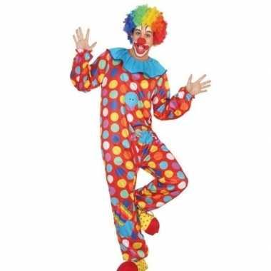 Goedkoop carnaval/feest clown verkleed carnavalskleding heren