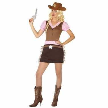 Goedkoop carnaval/feest cowgirl verkleedcarnavalskleding dames
