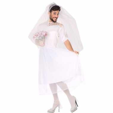 Goedkoop carnaval/feest fun bruid verkleed carnavalskleding heren