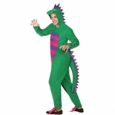 Goedkoop carnaval/feest groene draak verkleed carnavalskleding volwas