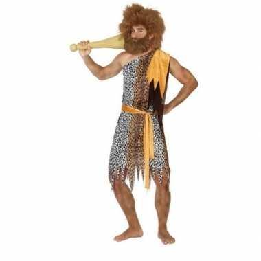 Goedkoop carnaval/feest holbewoner alley oertijd verkleedcarnavalskle