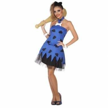 Goedkoop carnaval/feest holbewoonster betty oertijd betty oertijd verkleedcarnavalskleding jurk dames