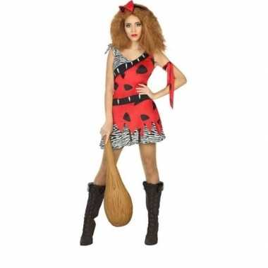 Goedkoop carnaval/feest holbewoonster loana oertijd verkleedcarnavals