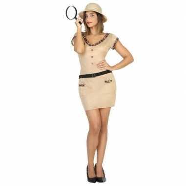 Goedkoop carnaval/feest jungle explorer verkleedcarnavalskleding dame