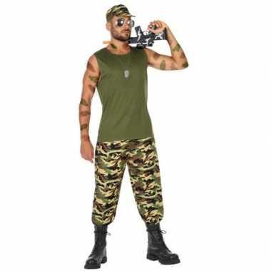 Goedkoop carnaval/feest leger soldaat verkleed carnavalskleding heren