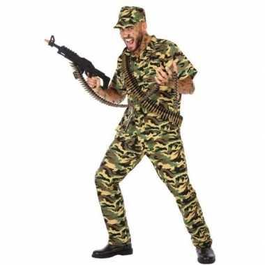 Goedkoop carnaval/feest leger soldaten/militairen verkleed carnavalsk