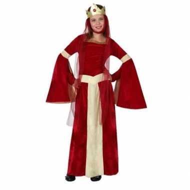 Goedkoop carnaval/feest middeleeuwse prinsessen/koninginnen verkleedc