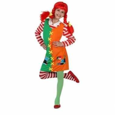 Goedkoop carnaval/feest pippie verkleedcarnavalskleding meisjes