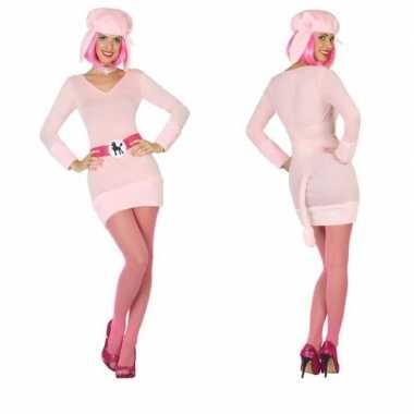 Goedkoop carnaval/feest poedel verkleed carnavalskleding dames