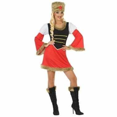 Goedkoop carnaval/feest russische kozak verkleedcarnavalskleding dame