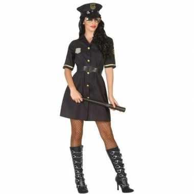 Goedkoop carnaval politie carnavalskleding zwart dames