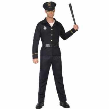 Goedkoop carnaval politie carnavalskleding zwart volwassenen