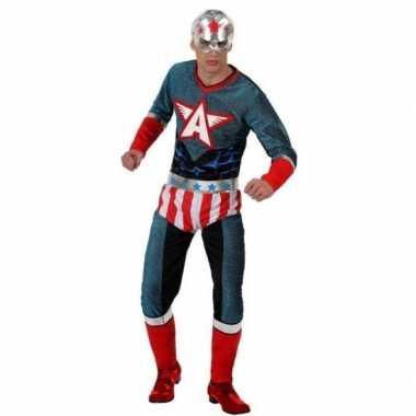 Goedkoop carnaval superhelden carnavalskleding amerikaaanse kapitein