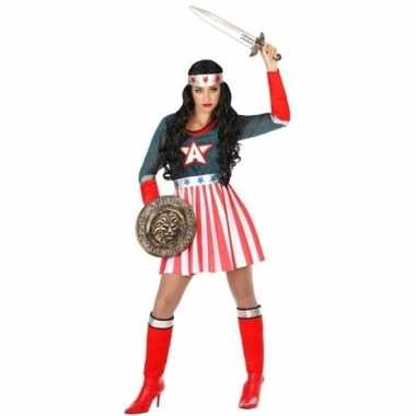 Goedkoop carnaval superheldin carnavalskleding amerikaaanse kapitein