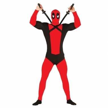 Goedkoop carnavalscarnavalskleding mutant rood zwart
