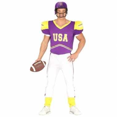 Goedkoop carnavalskleding american football paars