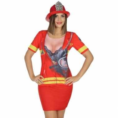 Goedkoop carnavalskleding brandweer shirt