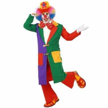 Goedkoop carnavalskleding clown jas volw