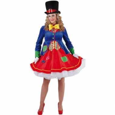 Goedkoop carnavalskleding clowns jurkje