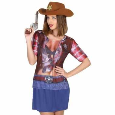 Goedkoop carnavalskleding cowgirl shirt