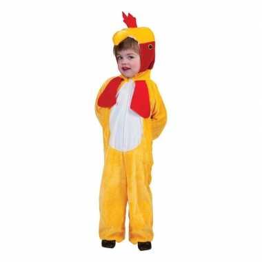 Goedkoop carnavalskleding gele kip/haan kinderen