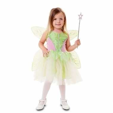 Goedkoop carnavalskleding groene feeen jurk meisjes