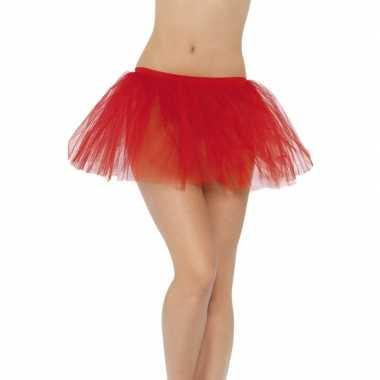 Goedkoop carnavalskleding/halloween rode duiveltjes rokken/tutus verk