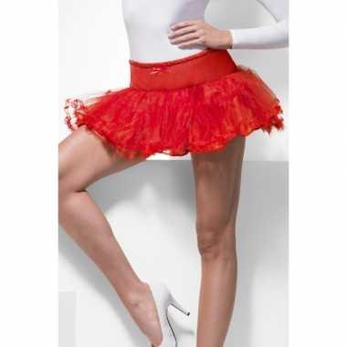 Goedkoop carnavalskleding halloween rode duiveltjes rokken tutus verkleedaccessoire dames 10123204