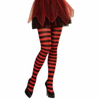 Goedkoop carnavalskleding/halloween rood/zwarte heksen panties/maillo