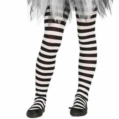 Goedkoop carnavalskleding/halloween wit/zwarte heksen panties/maillot