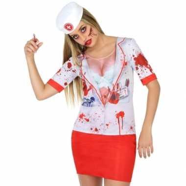 Goedkoop carnavalskleding horror zuster shirt