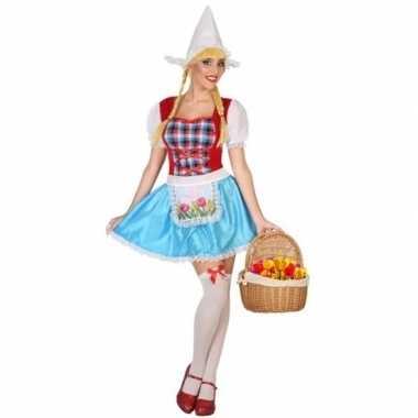Goedkoop carnavalskleding kaasmeisje carnavalskleding rood, wit blauw
