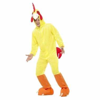 Goedkoop carnavalskleding kip/haan carnavalskleding geel volwassenen